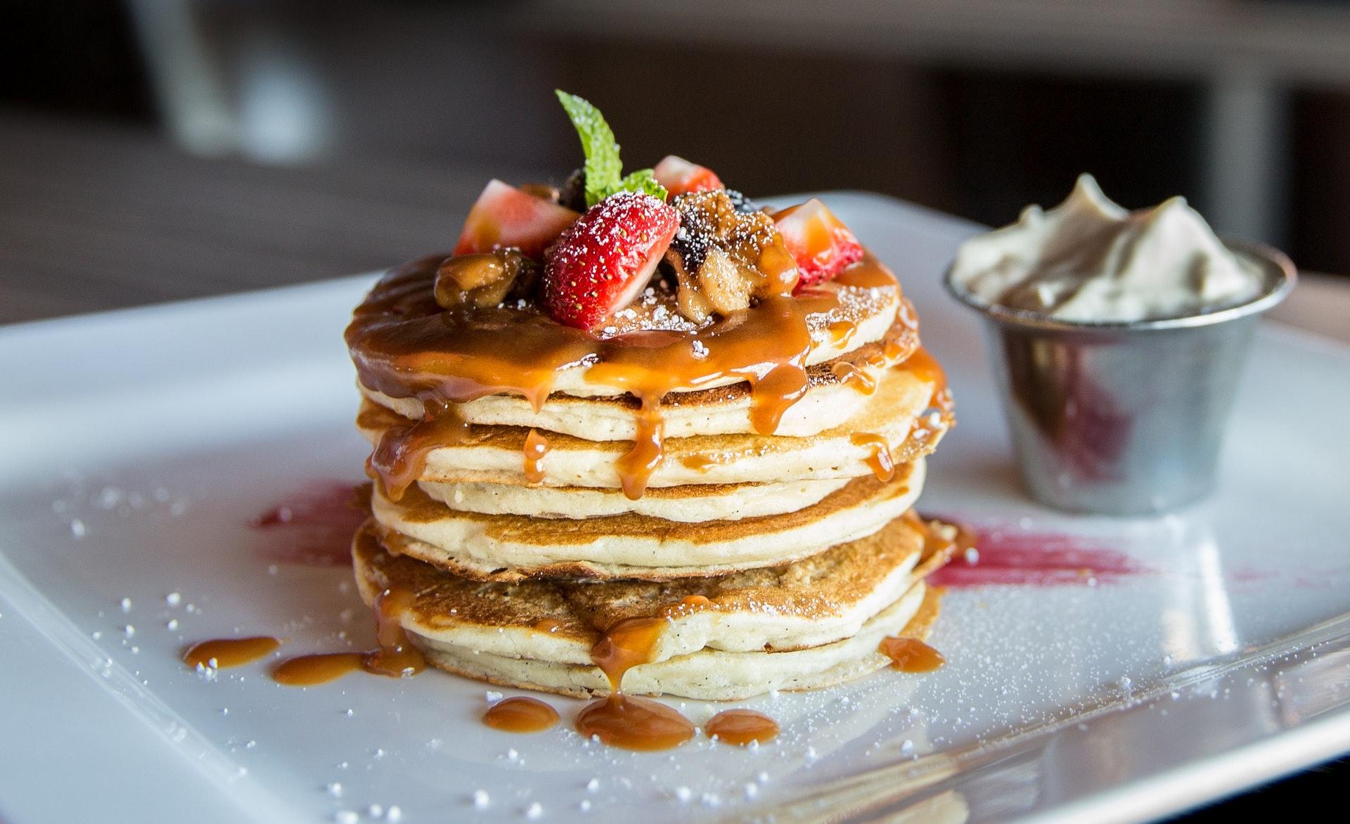 pancakes au caramel